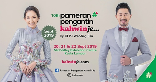Pameran Pengantin KahwinJe by KLPJ Wedding Fair September 2019 Mid Valley, KLCC, Ekspo KahwinLah November 2019, Jomkahwin 2019 Quill Convention Centre, The Wedd Fest PWTC, Ampang Point, Shah Alam Convention Centre, SACC, Shah Alam, Klang, Bangi, KLPJ